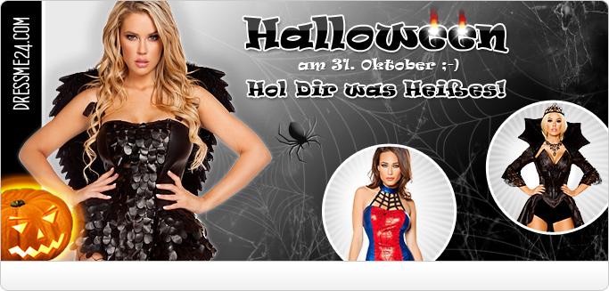 Halloween Kostüme für Damen - Sexy Hexen & Vampire