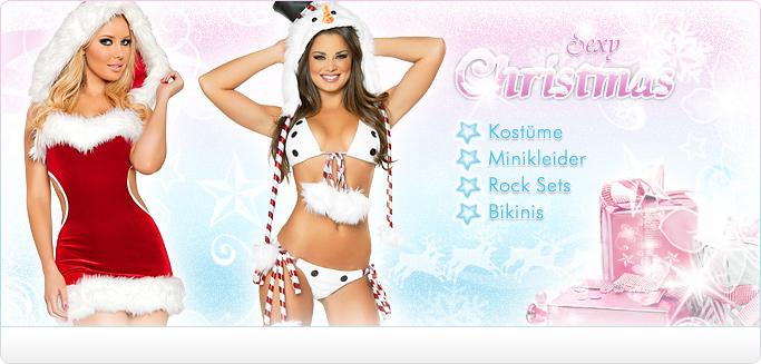 Sexy Weihnachtskostüme - Minikleider, Weihnachtsmützen, Fellstulpen & mehr ...