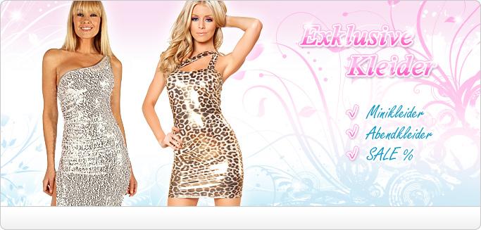 Sexy Kleider - Minikleider, Abendkleider, Partykleider und Cocktailkleider