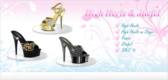 High Heels & Stiefel - Plateau Heels, Pumps, Lackstiefel & mehr ...