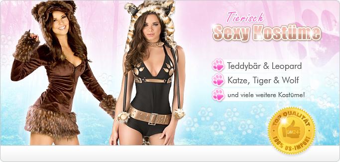 Sexy Tierkost�me f�r Fasching - Jetzt s��e Tiger, Katzen, Bunnys & mehr entdecken!