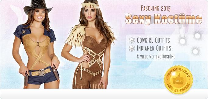 Cowgirl & Indianer Kost�me f�r Fasching - Jetzt entdecken!