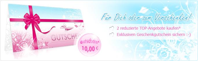 Kaufe 2 reduzierte TOP-Angebote und erhalte eine exklusive 10.00 EUR Gutscheinkarte, für Dich oder zum Verschenken!