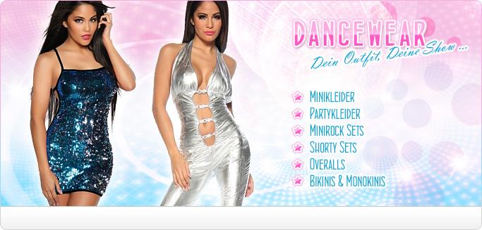 Dancewear & GoGo Fashion - Minikleider, Partykleider, Minirock- & Shorty Sets, Overalls & Bikinis für heiße Partynächte
