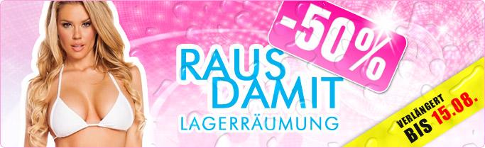 ★ RAUS DAMIT -50% ★ Jetzt 50% Rabatt auf Einzelstücke & Lagerartikel!