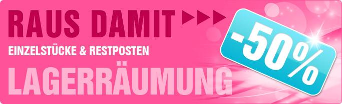 ★ RAUS DAMIT -50% ★ Jetzt 50% Rabatt auf Einzelstücke & Lagerartikel ...