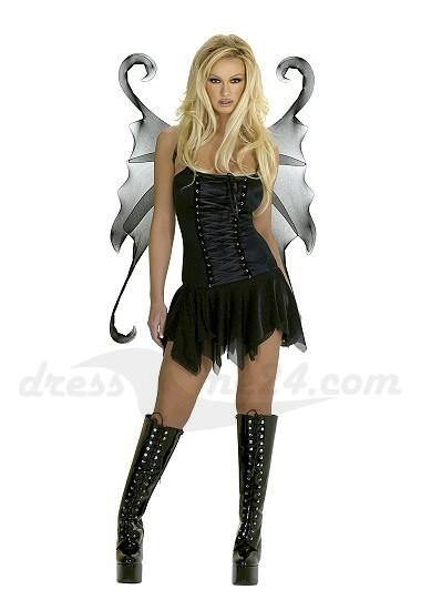 dark fairy schwarzer engel kost m komplett f r. Black Bedroom Furniture Sets. Home Design Ideas