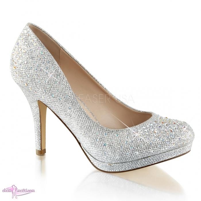 glitter pumps covet 02 silber shoes pumps high heels. Black Bedroom Furniture Sets. Home Design Ideas