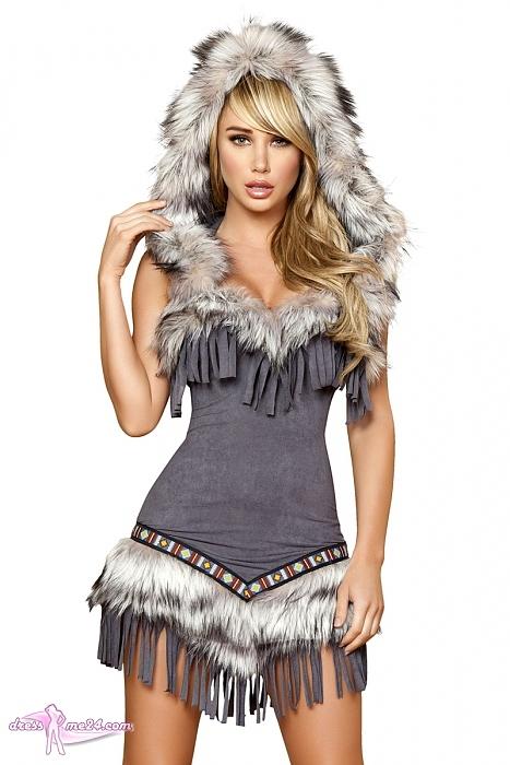 indianer kost m native american lady f r fasching. Black Bedroom Furniture Sets. Home Design Ideas