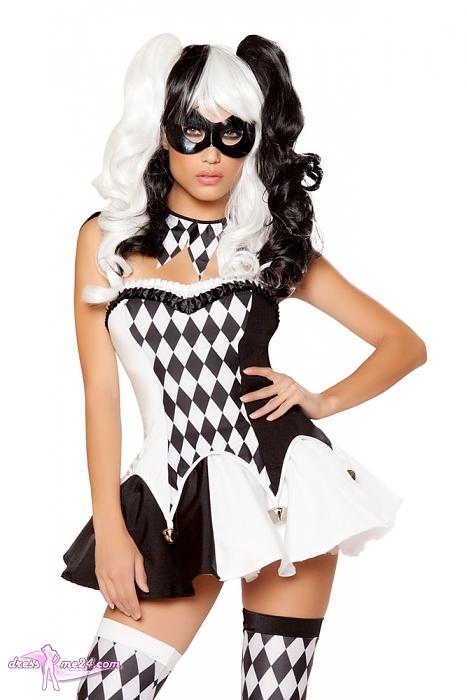 Jester Clown Kostum Schwarz Weiss Kostume Fur Fasching Art Nr 10044