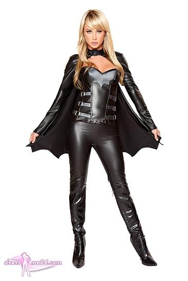 batman kost m damen karneval fasching weich schwarz neu komplett. Black Bedroom Furniture Sets. Home Design Ideas