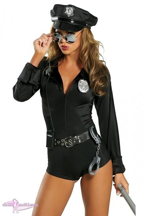 sexy polizistin kost m police cop 7 teilig kost me. Black Bedroom Furniture Sets. Home Design Ideas