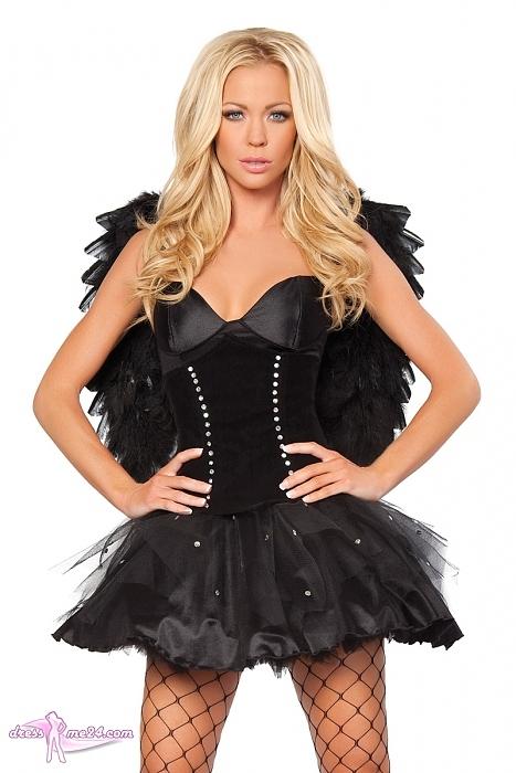 Schwarzer Engel Kostum Dunkle Macht Fur Fasching Shows Art