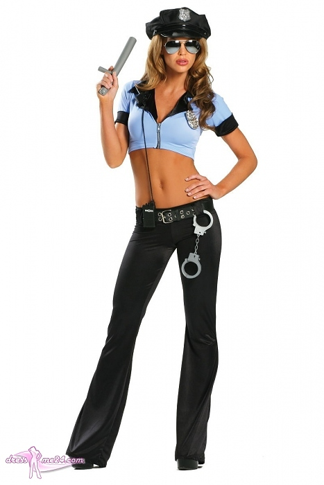 Sexy Polizistin Kostum Police Cop Fur Fasching Shows Art Nr