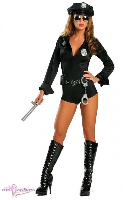 sexy polizistin kost m police cop 7 teilig f r. Black Bedroom Furniture Sets. Home Design Ideas