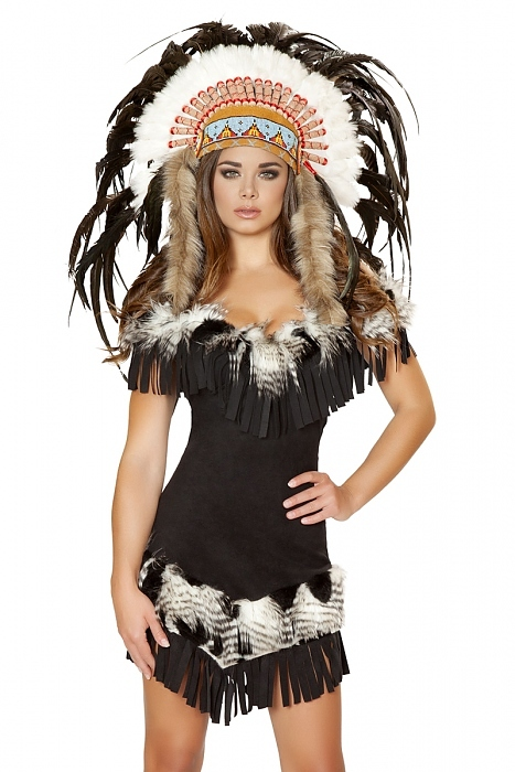 indianer kost m native indian mit kopfschmuck karneval fasching made in usa ebay. Black Bedroom Furniture Sets. Home Design Ideas