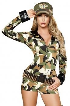 Army Kostüm Overall kurz