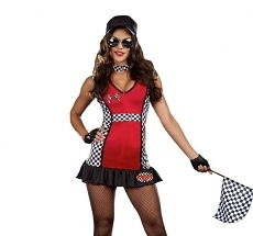 Dreamgirl Racer Kostüm - Grid Girl Kleid