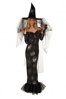 Elegante Halloween Hexe  - Hexen Kostüm
