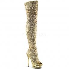 Glitzer Overknee Stiefel BLONDIE-R-3011 gold