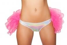 GoGo Shorts mit Petticoat pink/silber