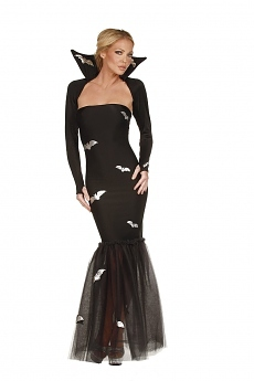 Halloween Kleid - Madame Fledermaus