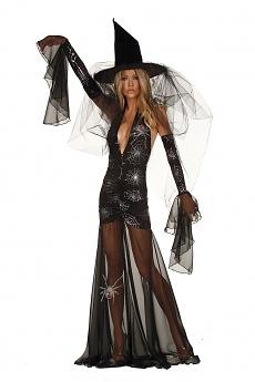 Halloween Kostüm - Hexe Madame Spider
