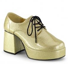 Herren Disco Plateau Schuhe 70er gold