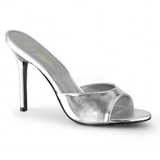 High Heels Pantolette Classique-01 silber