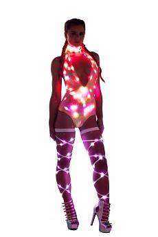 LED GoGo Outfit Mermaid - 3-teilig