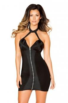 Minikleid Black Zipper