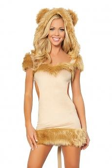 Minikleid Lowen Kostum Stolze Lowin Tierkostume Fur Fasching