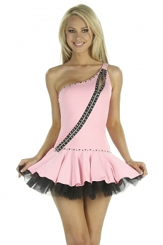Minikleid Zipper Girl