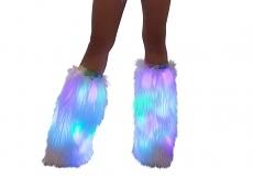 Neon Beinstulpen mit blinkenden LED´s