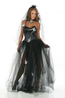 Sexy Spinnen Kleid - Hexenkost�m