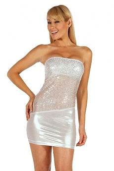 Pailletten Minikleid silver Star