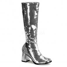 Pailletten Stiefel Spectacular-300SQ silber