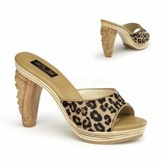 Pantolette Tiki-100 leopard