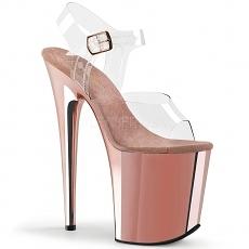 Plateau High Heels Flamingo-808CH rose gold