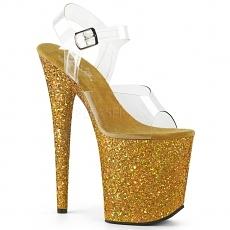 Plateau High Heels Flamingo-808LG gold