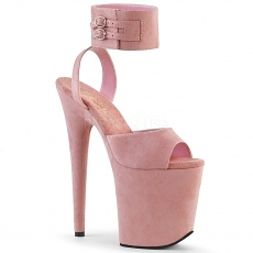Plateau High Heels Flamingo-891 baby pink