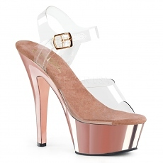 Plateau High Heels Kiss-208 rose gold