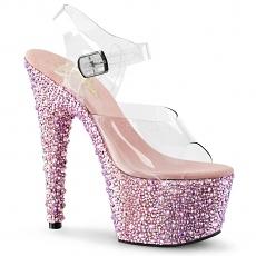 Plateau Sandalette Bejeweled-708MS baby pink