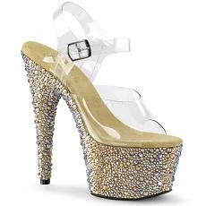 Plateau Sandalette Bejeweled-708MS gold