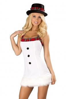 Schneemann Minikleid mit Hut