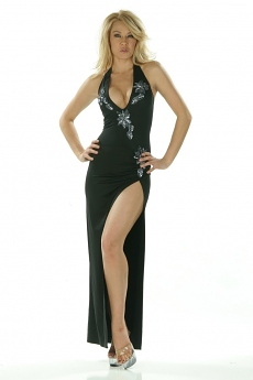 Sexy Abendkleid Janina - schwarz