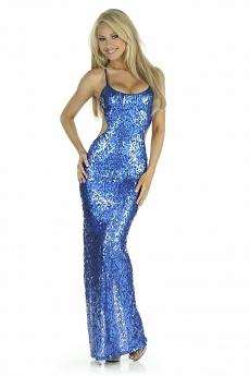 Sexy Abendkleid Lea - royal blau