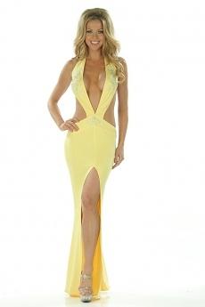 Sexy Abendkleid Nadja - gelb