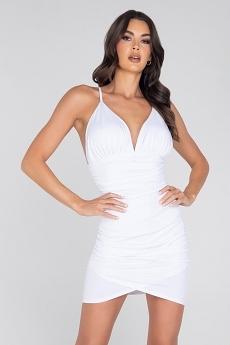 Sexy Minikleid White Amber