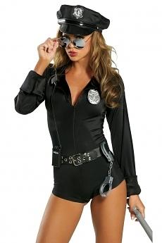 Sexy Polizistin Kostüm - Police Cop 7 teilig